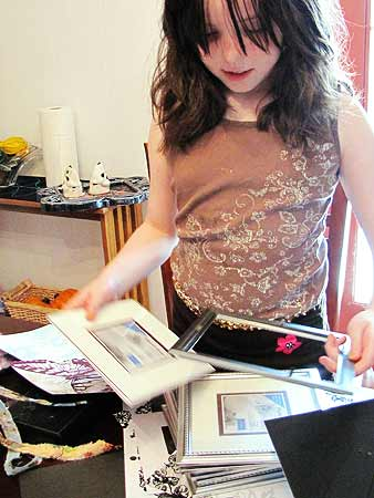 Framing the Scrapbook Paper Artwork
