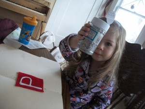 Try not to twitch as your child sprinkles glitter all over your dining room...I mean, the letters.