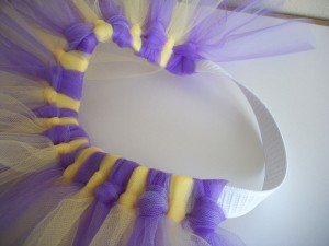 Work your way around the elastic to fill in the tutu.