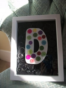 Button Monogram Shadowbox Craft