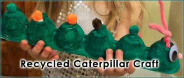 Caterpillar Recycled Craft for Kids