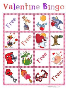 Valentine Bingo Card 1