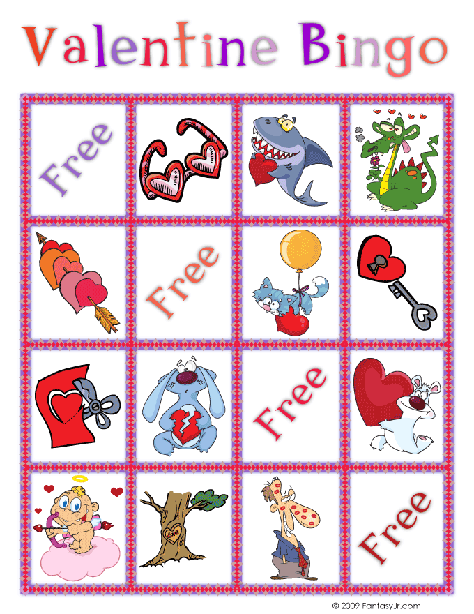 It's just an image of Printable Valentine Bingo Cards intended for pdf