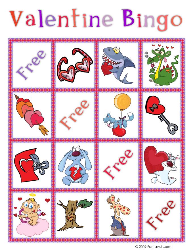 Valentine Bingo Printable Cards – Free Valentine Bingo Cards