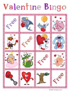 Valentine Bingo Card 2