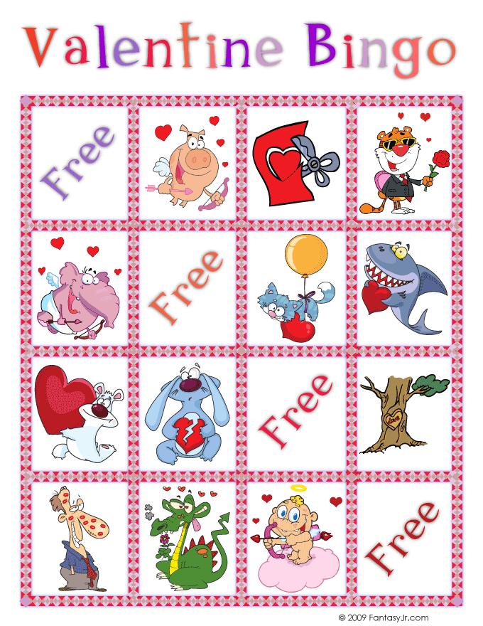 valentine bingo card 3 woo jr kids activities