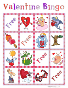 Valentine Bingo Card 4