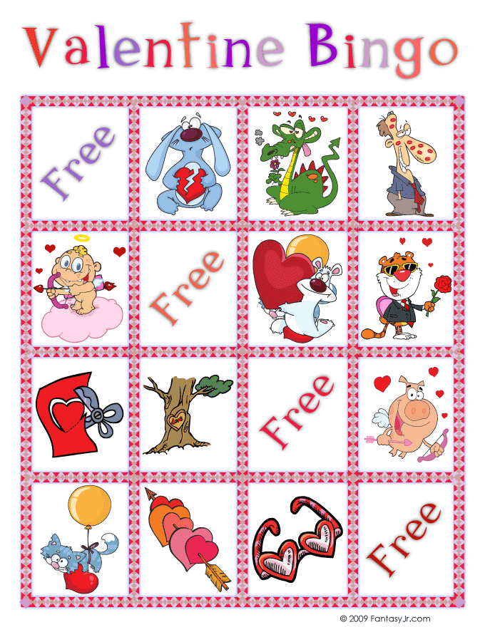 photograph regarding Printable Valentine Bingo Cards named Valentine Bingo Printable Playing cards