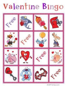 Valentine Bingo Card 7