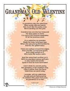 Grandma's Old Valentine Poem for Kids