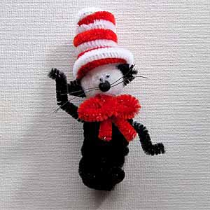 Cat in the Hat Finger Puppets Craft
