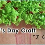 Presidents Day Craft – Tissue Paper Cherry Tree