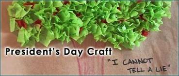 Presidents Day Craft – Tissue Paper Cherry Tree