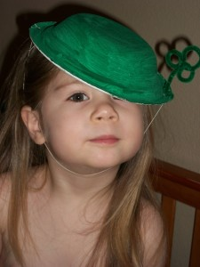 She's all ready for the St. Patrick's Day parade.