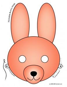 Printable Pink Bunny Mask