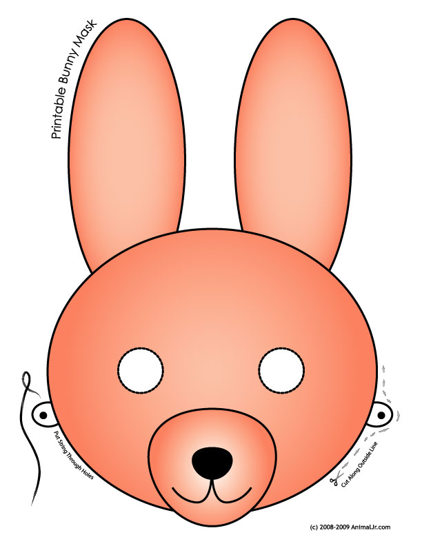 image about Printable Bunny Mask titled Printable Easter Bunny and Child Chick Masks Woo! Jr. Little ones