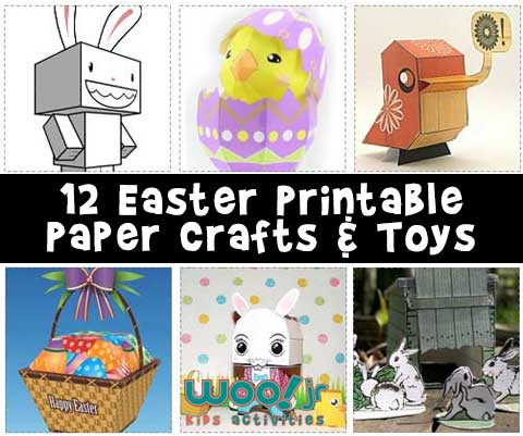 picture regarding Free Printable Paper Crafts called Printable Easter Crafts Woo! Jr. Young children Routines