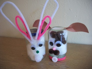 Recycled Craft: Baby Food Jar Animals