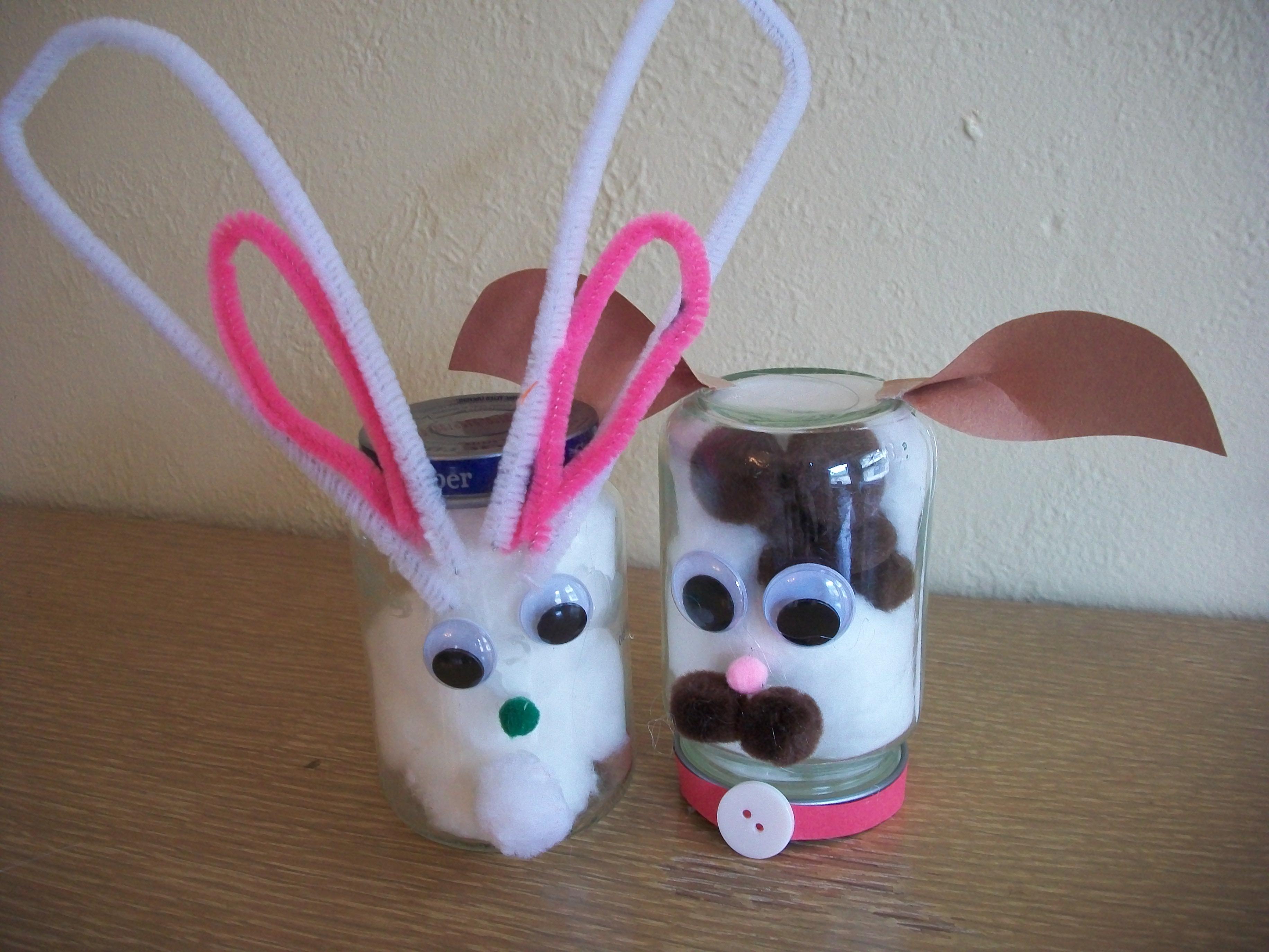 Recycled Craft Baby Food Jar Animals