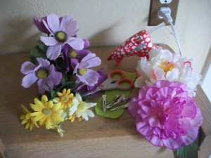 The bigger flowers are actually the easiest to make into barrettes.