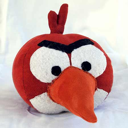 Stuffed Angry Bird Pattern from Obsessively Stitching