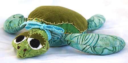 Stuffed Turtle Pattern from Diana Schoenbrun's Beasties Pattern Book