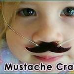 Super Fun Mustache Necklace Craft for Kids