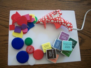 Home Made Stamps From Craft Foam Woo Jr Kids Activities