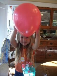 Ta-da!  You have a hot air balloon craft in less than five minutes!