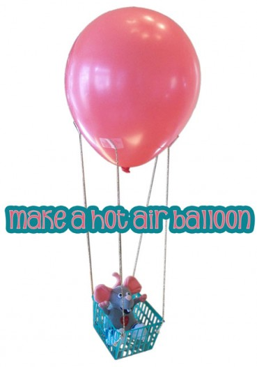 Hot Air Balloon Craft from Recycled Plastic