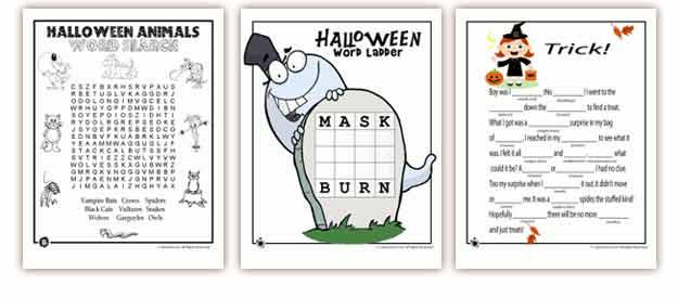 Number Names Worksheets free halloween worksheets Free – Free Printable Halloween Worksheets