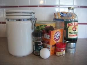 Gingersnap ingredients.