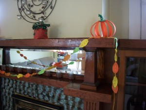 Use your paper pumpkins to add color and fun to your Halloween or harvest decorations.
