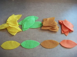 Cut out your felt leaves.