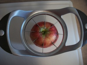 Slice your apples.