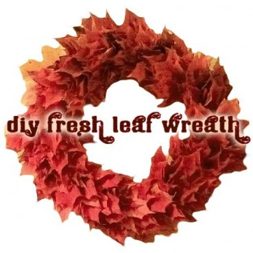 Autumn Leaf Wreath Kids Can Help Make