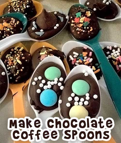 Make Chocolate Coffee Spoons