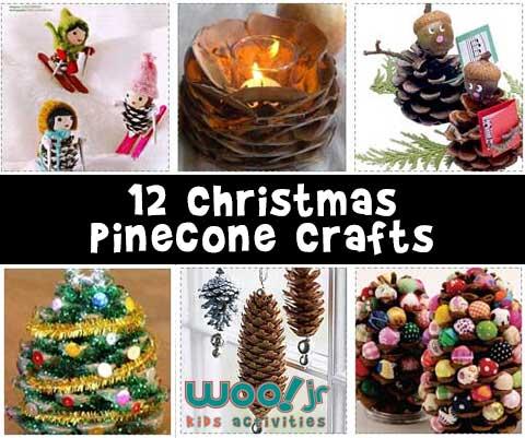 Christmas Pinecone Crafts - Woo! Jr. Kids Activities