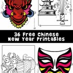 Chinese New Year Printables: Masks, Dragons and Coloring Pages