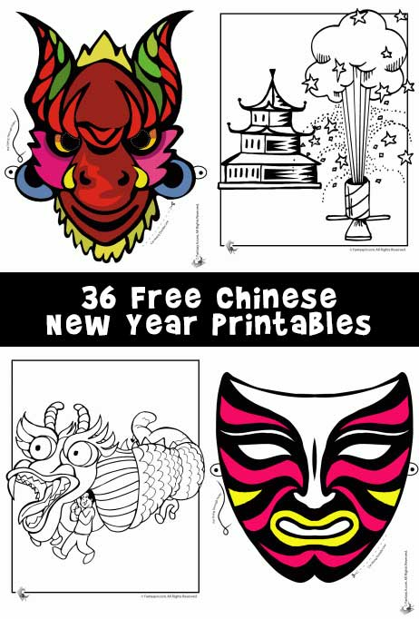 Chinese New Year Printables: Masks, Dragons and Coloring Pages | Woo ...