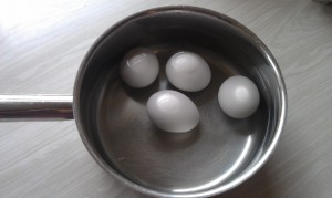 Boil your eggs. For some reason, I always have to look up how to do this correctly!