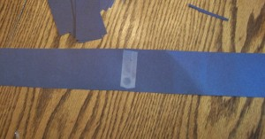"Tape the 2"" bands together along the ends and use them to measure around your kid's head to make the headband the right size."