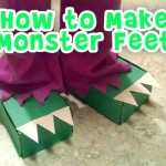 Recycled Craft: Dinosaur Feet from Tissue Boxes
