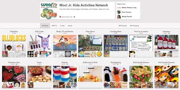 Kids Activities, Ideas and Projects on Pinterest from Woo! Jr.