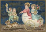 1886 Bunny Carriage Card