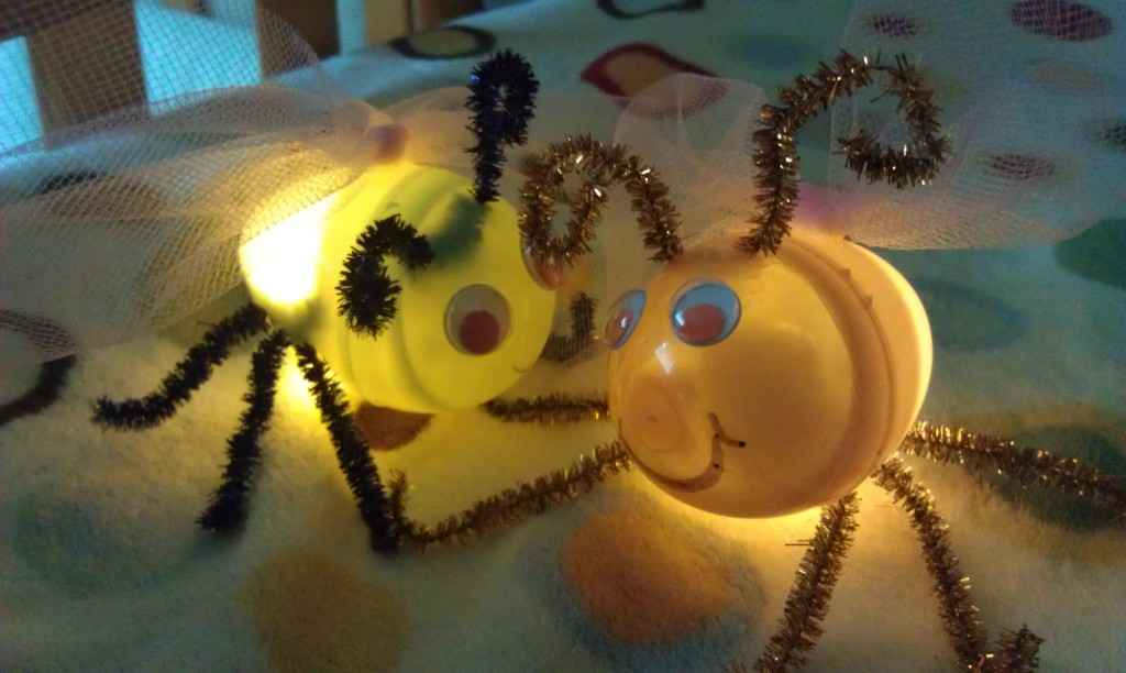 Fireflies Or Lightning Bug Craft From Plastic Eggs Woo