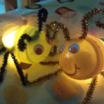 Fireflies or Lightning Bug Craft from Plastic Eggs