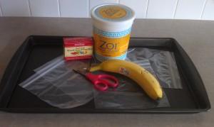 Ingredients for the yogurt dot freezer recipe.