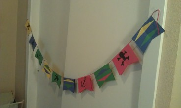 Pirate Flag Bunting for a Pirate Party or Just for Fun