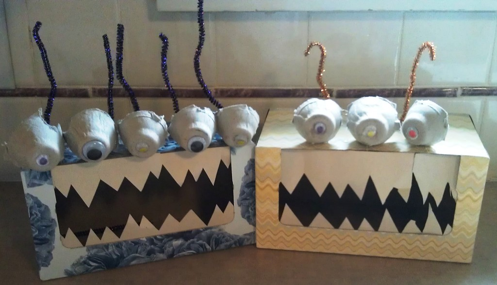 Recycled Craft Tissue Box Monsters Aka Boogie Monsters